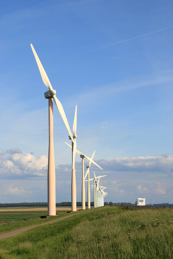 Download Wind Turbines In Pastel Tones Stock Image - Image of alternative, metal: 3771667