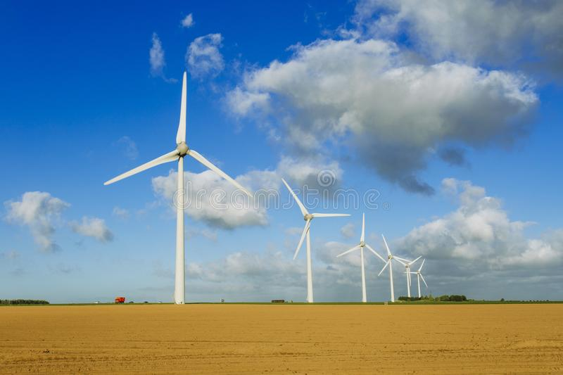 Download Wind Turbines Of A Power Plant For Electricity Generation In Normandy, France. Concept Of Renewable Sources Of Energy Stock Image - Image of climate, clean: 103195601