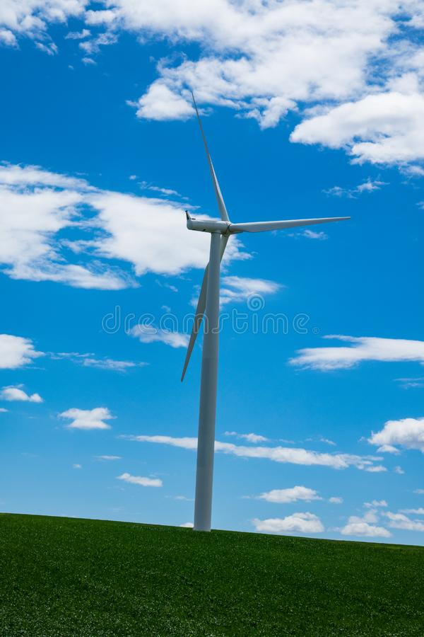 Download Wind Turbines And Wheat Fields In Eastern Oregon Stock Image - Image of rural, wheat: 93575107