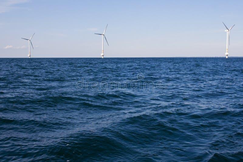 Wind Turbines On A Sea Stock Photography