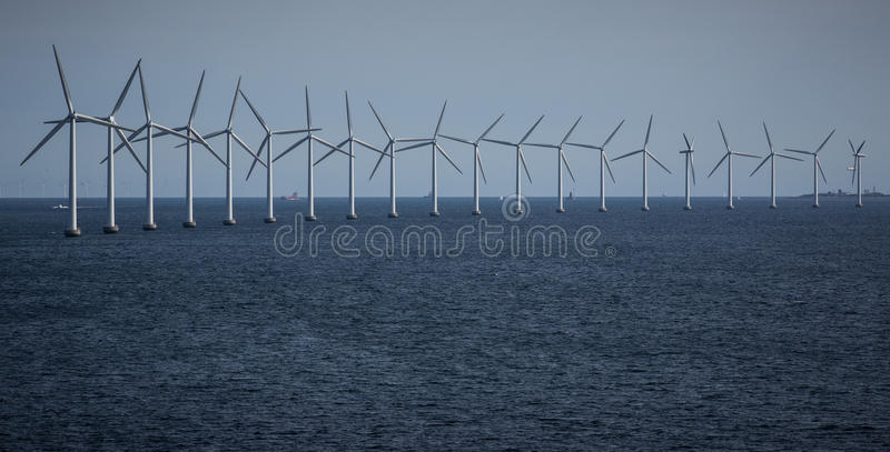 Download Wind Turbines at sea stock image. Image of power, turbines - 26028307