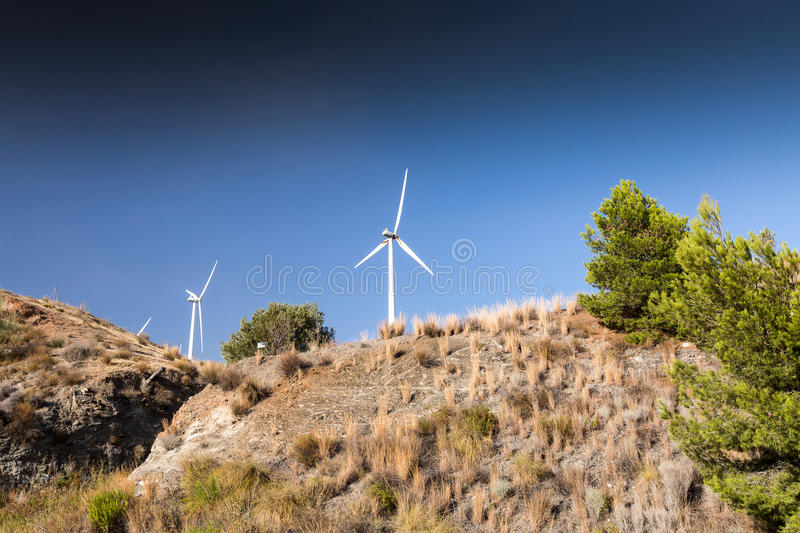 Wind turbines in Spain stock image