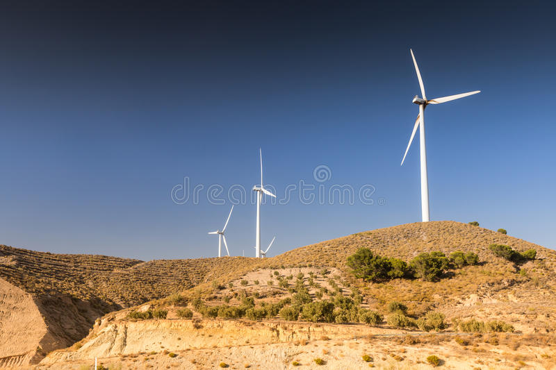Wind turbines in Spain royalty free stock photo