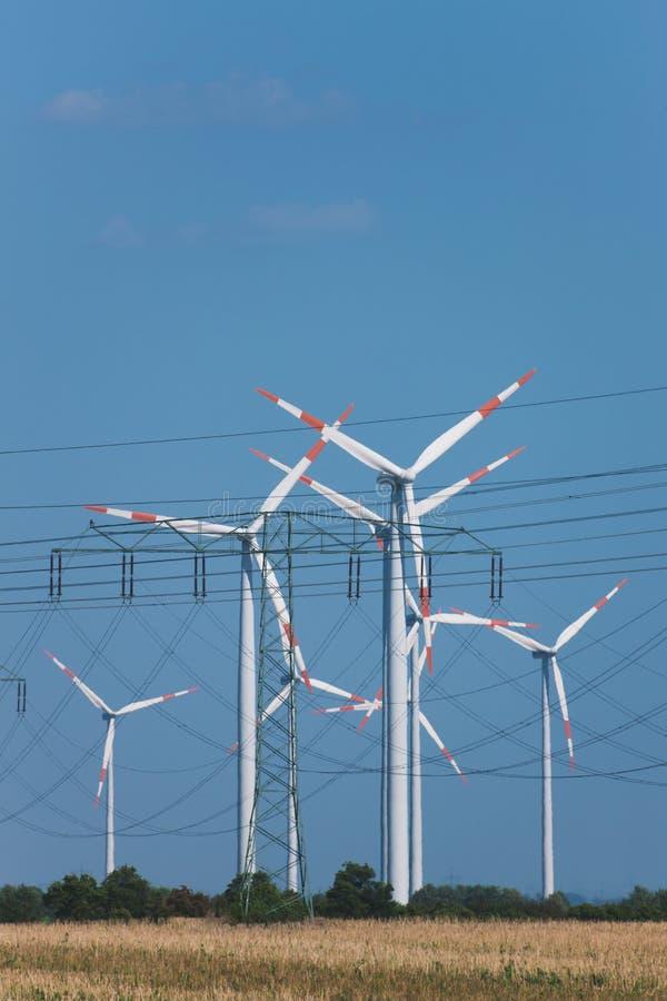 Download Wind Turbines In Strong Heat Haze (!) Stock Image - Image: 15874161