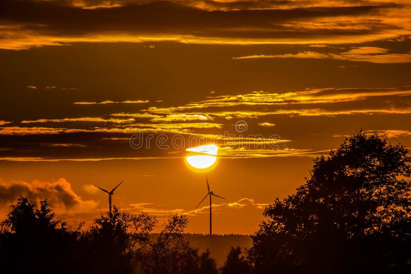 Wind Turbines At Sunset Free Public Domain Cc0 Image