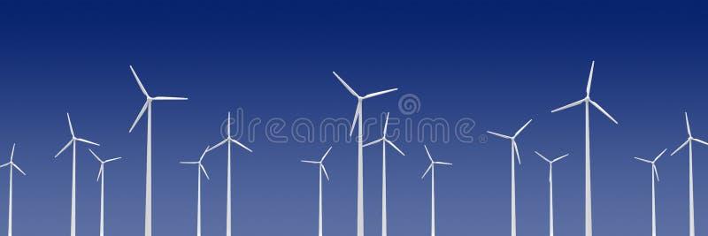 Wind turibines stock abbildung