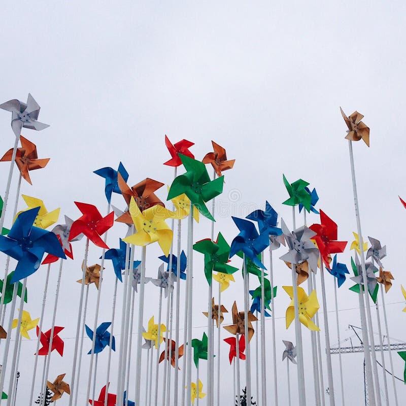 Wind und Farbe lizenzfreie stockfotografie