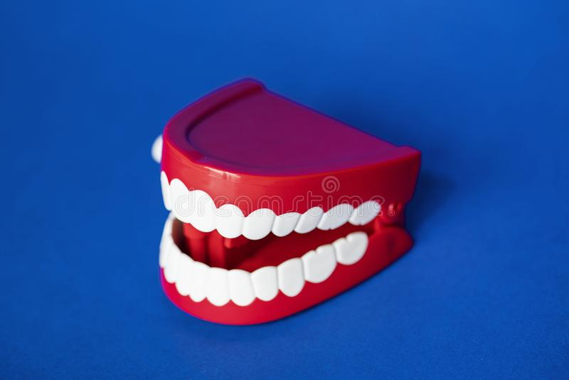Wind up chattering teeth toy stock photography