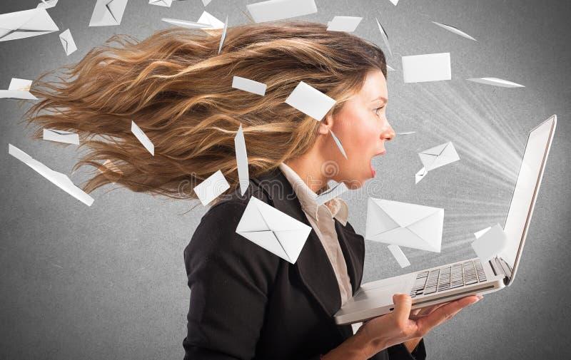 Wind van e-mail stock afbeeldingen