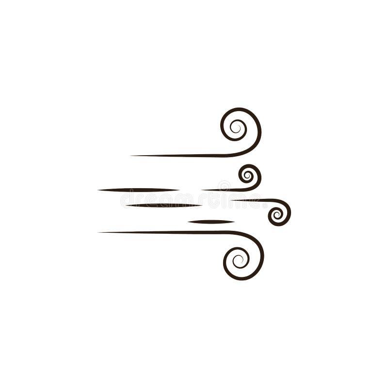 Wind, Wüstenikone Element der Wüstenikone für bewegliche Konzept und Netz apps Übergeben Sie Wind des abgehobenen Betrages, kann  stock abbildung