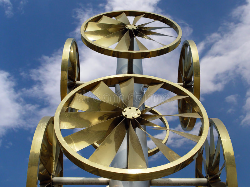 Wind wheel royalty free stock photo
