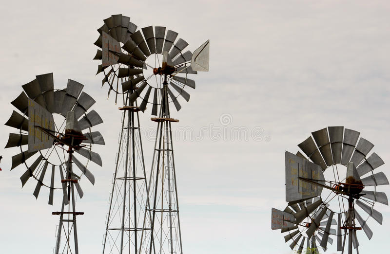 Wind wheels in Texas royalty free stock image