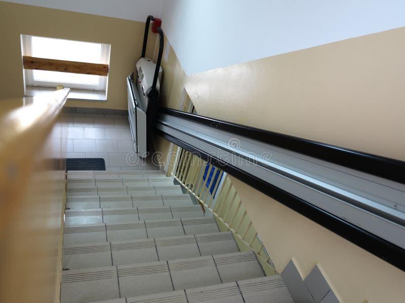 For winda, dźwignięcie dla nieważnego wózka inwalidzkiego zdjęcie stock