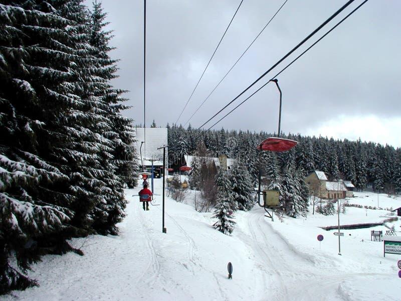 Download Winda na nartach obraz stock. Obraz złożonej z drzewa, śnieżny - 41467