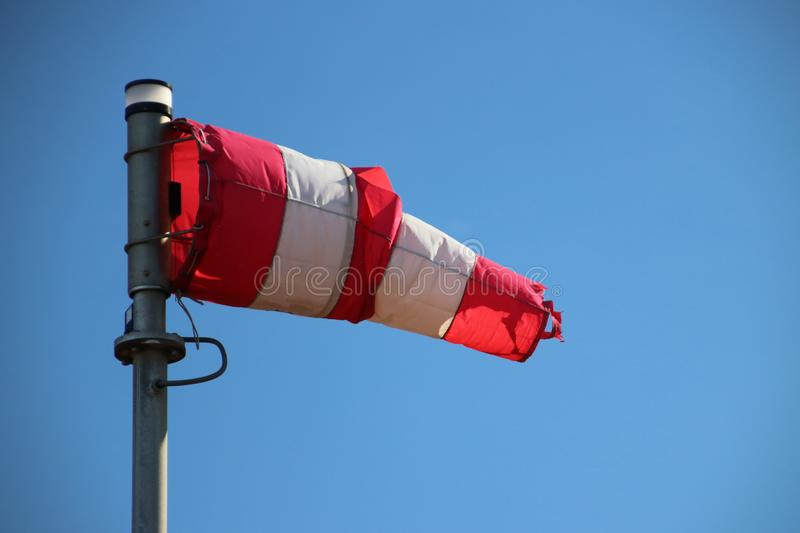 Windbag on bridge in the botlek area in the port of Rotterdam, t stock photos