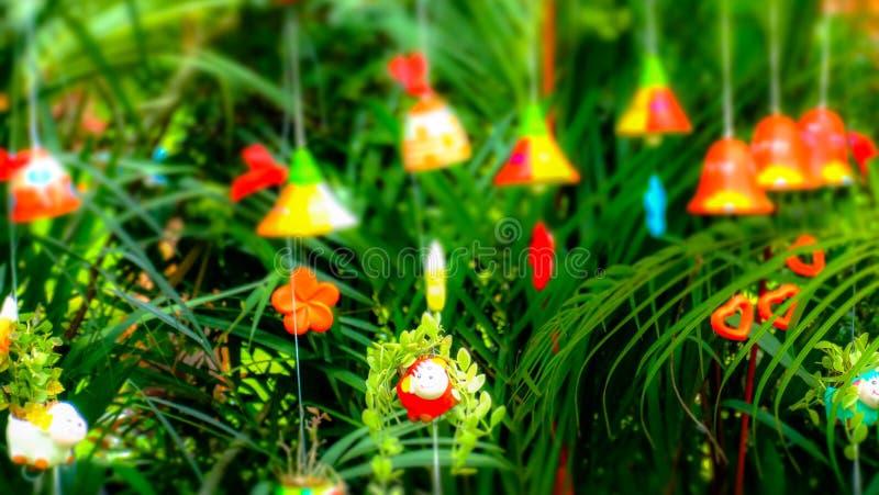 Windbells coloridos imagen de archivo