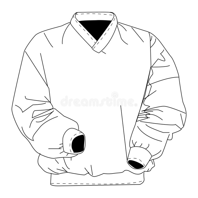 Windbreaker with clipping path. Illustration with clipping path vector illustration