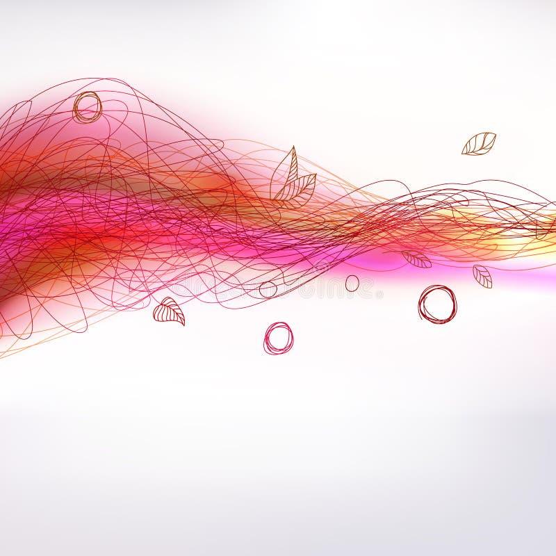 Windelement der bunten Zeichnung des Herbstes dekoratives vektor abbildung