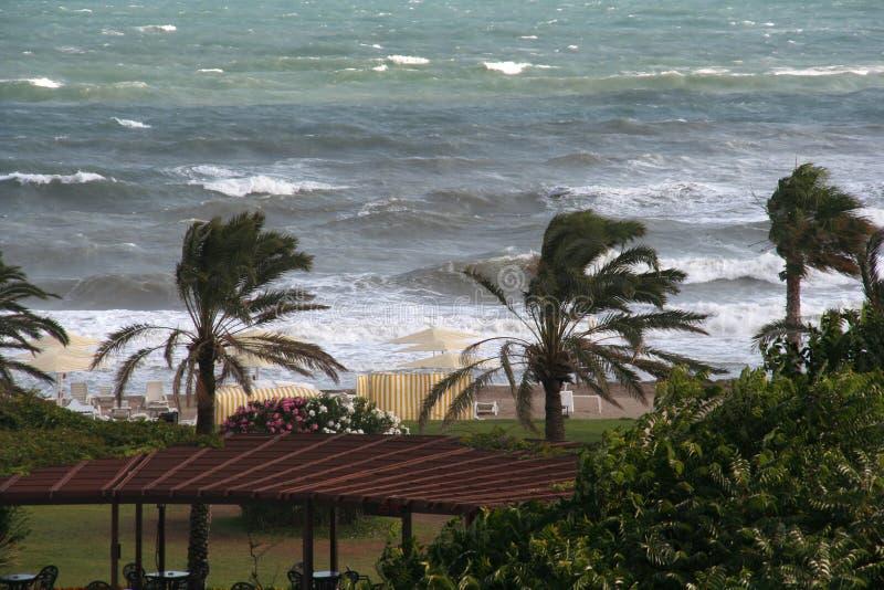 Winden, golven en de zon (Middellandse Zee) stock foto's