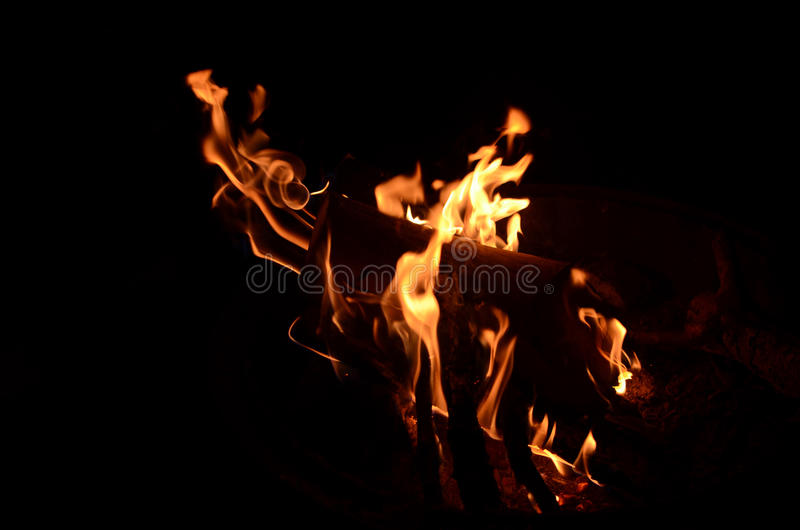 Windende Flammen stockfotografie