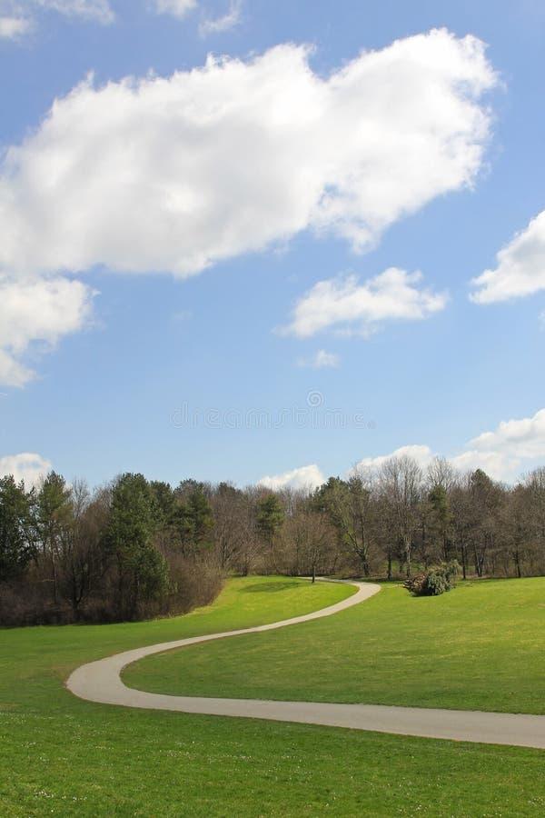 Windende manier in het park stock foto