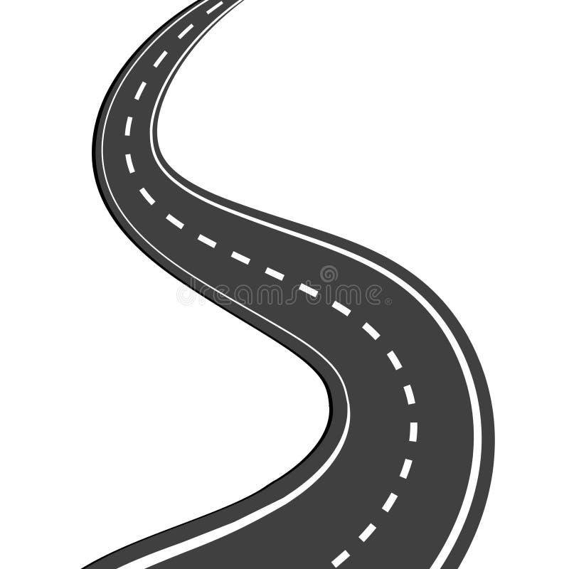 Windende weg stock illustratie