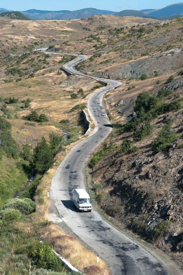 Windende Weg in Albanië royalty-vrije stock foto