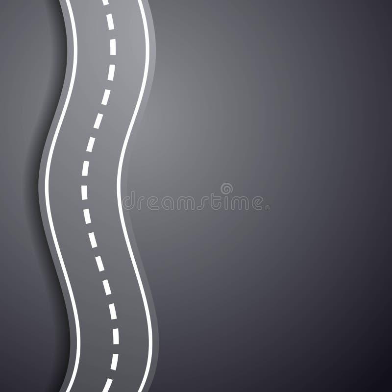 Windende weg Het overwinnen van moeilijkheden De illustratie van de voorraad royalty-vrije illustratie
