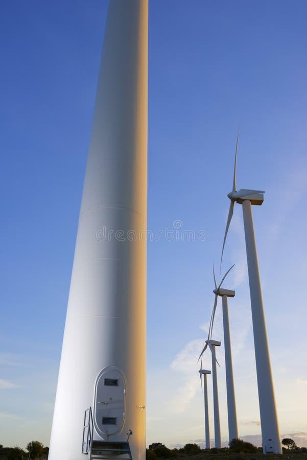Windenergie stock fotografie