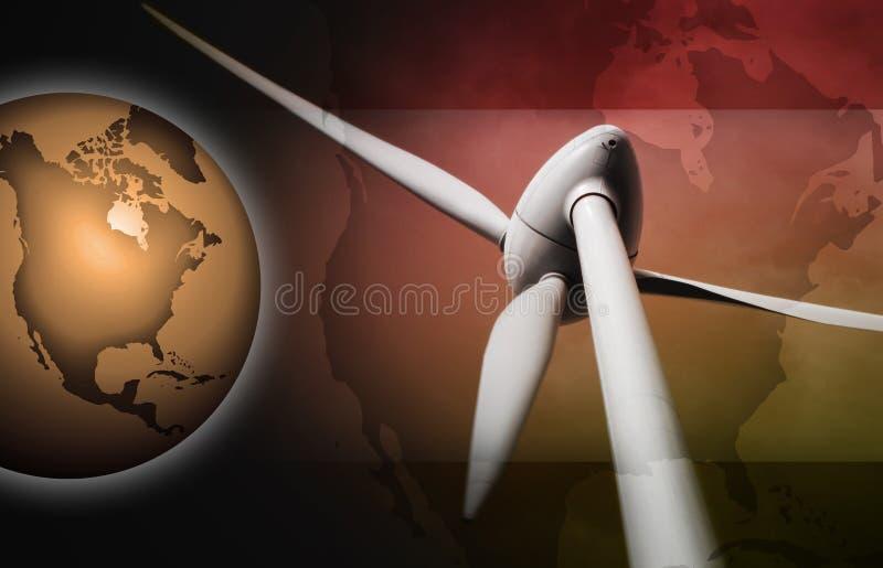 Windenergie stock abbildung