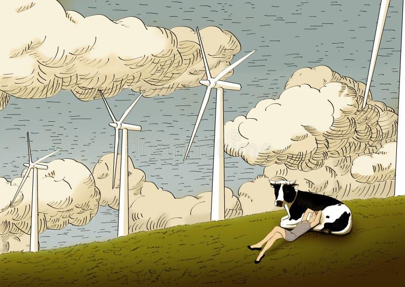 Windenergie vektor abbildung