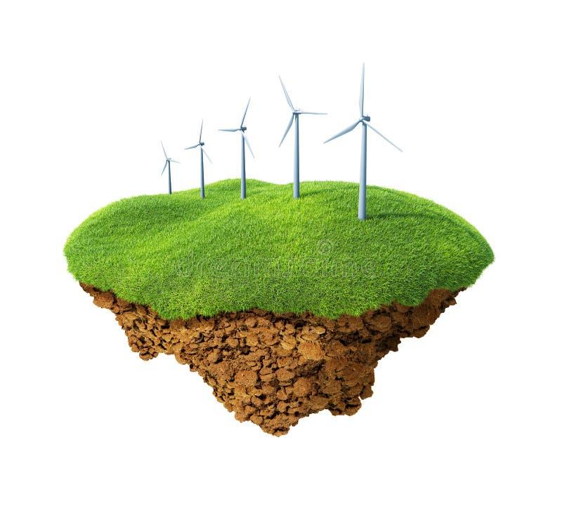 Windenergieleistung lizenzfreie abbildung
