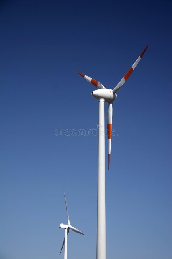 Windenergiestation stockfoto