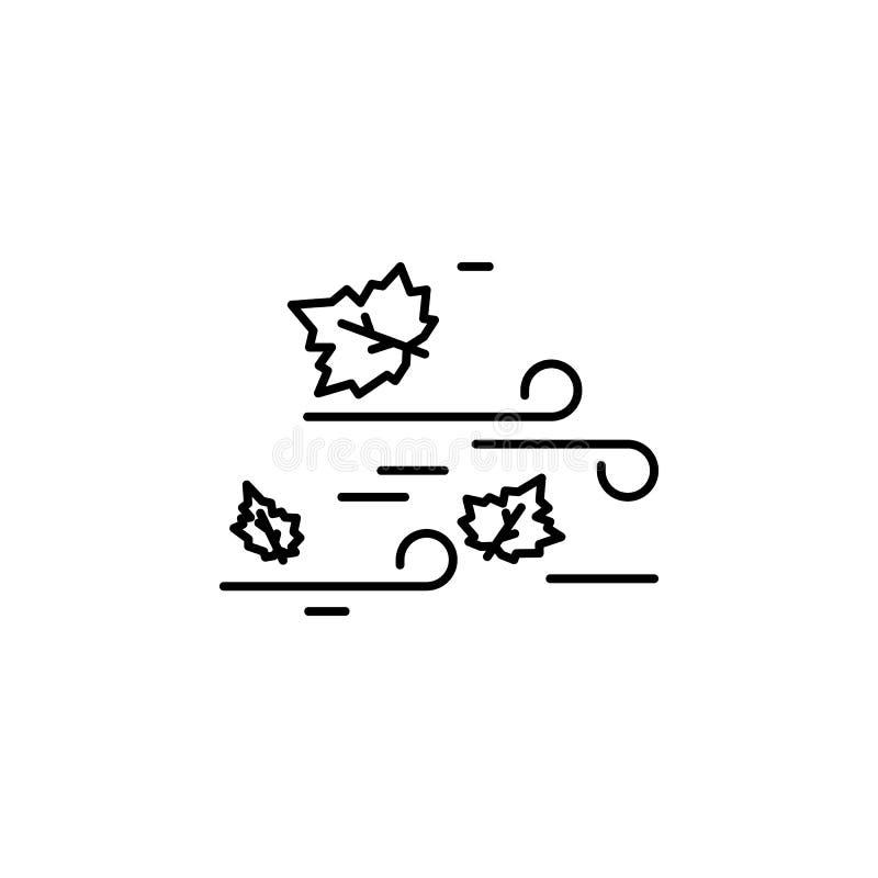 Winderig, de herfstpictogram Element van de herfstpictogram royalty-vrije illustratie