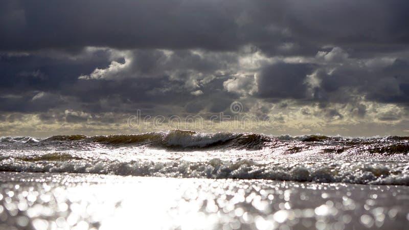 Winderige dag in de Oostzee royalty-vrije stock foto's