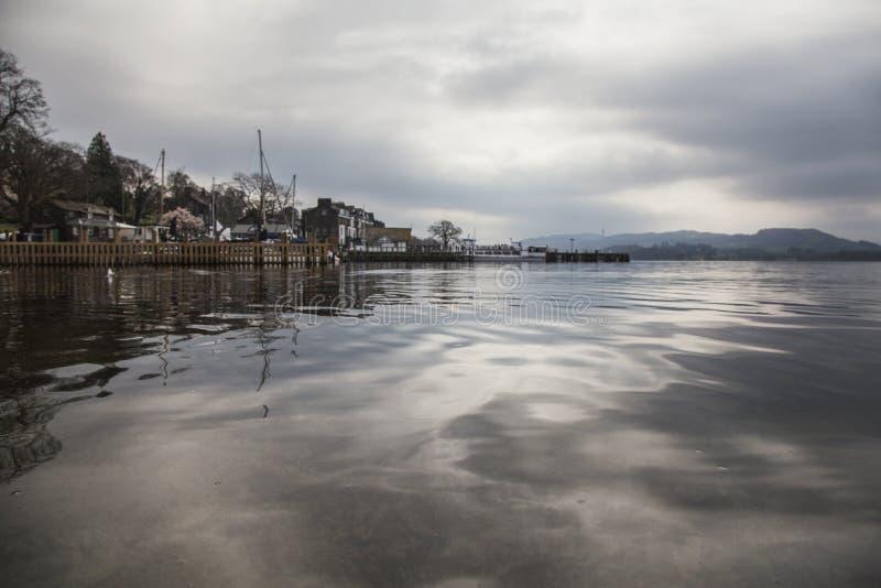 Windermere sjö, England, te UK - kusten royaltyfri fotografi