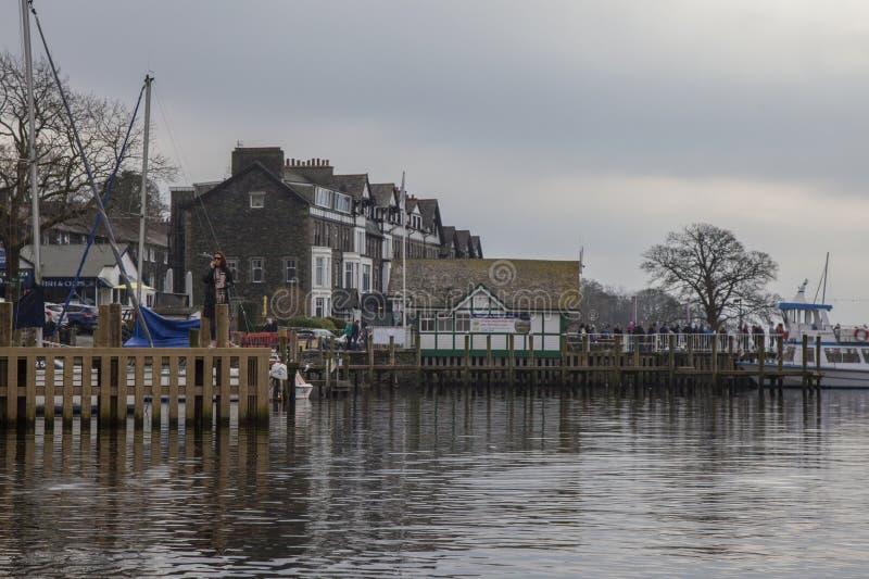 Windermere sjö, England - tekust fotografering för bildbyråer