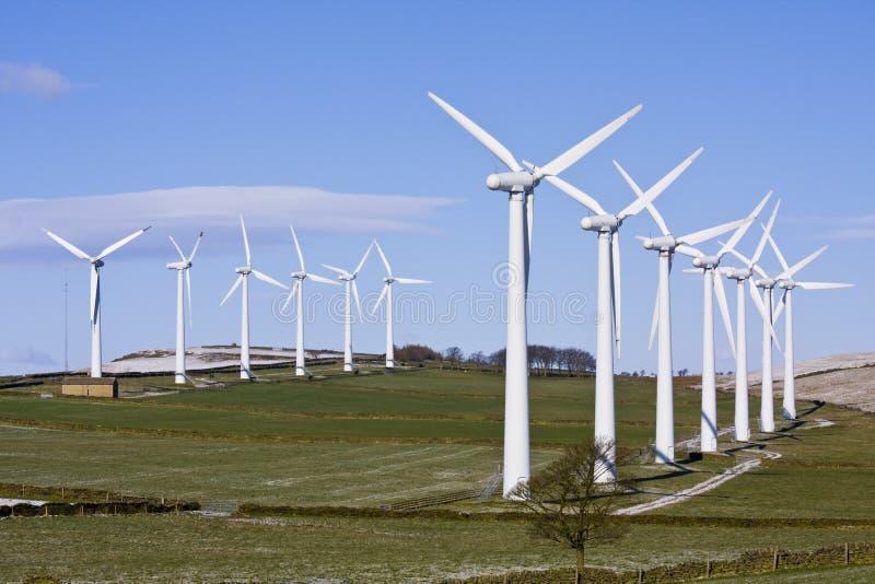 windfarm ветра турбин стоковое изображение