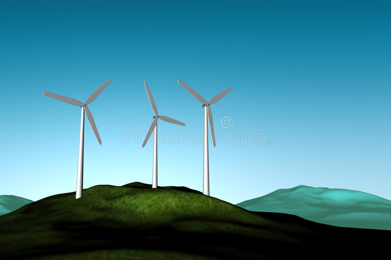 windfarm vektor illustrationer