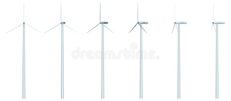 windfarm 皇族释放例证