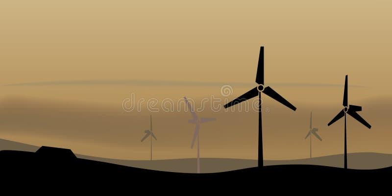 windfarm 库存例证