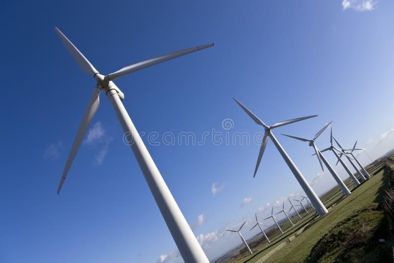 Windfarm. Windmills against the sky from Royd Moor windfarm, Yorkshire royalty free stock photos