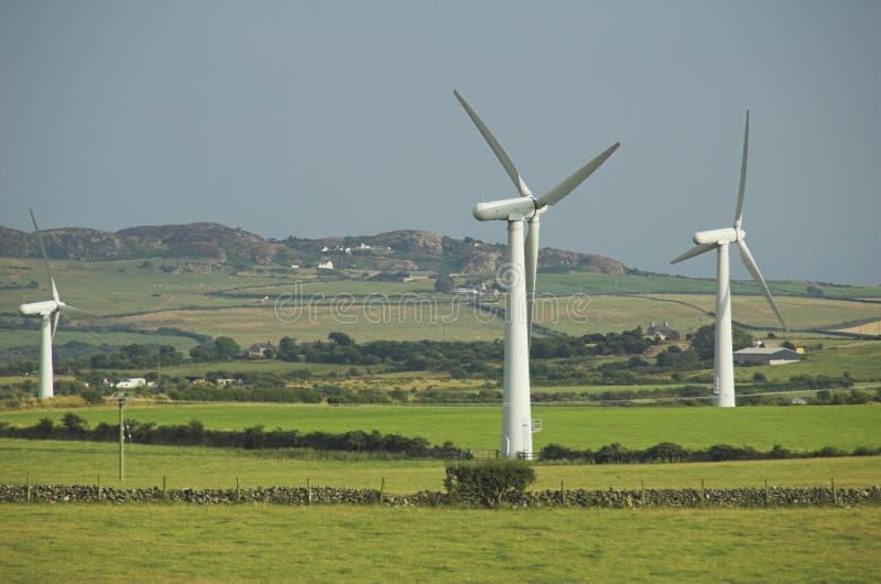 Windfarm de ferme de pays photos stock
