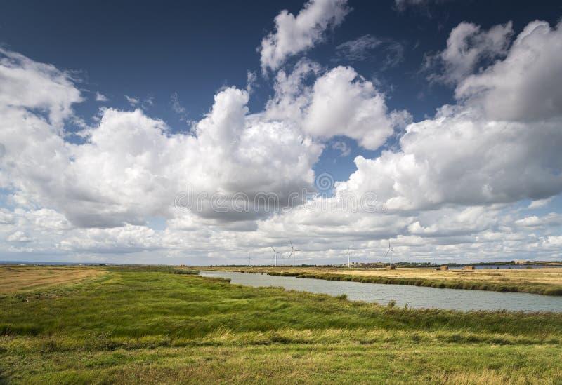 Windfarm de Novas Linhas imagem de stock royalty free