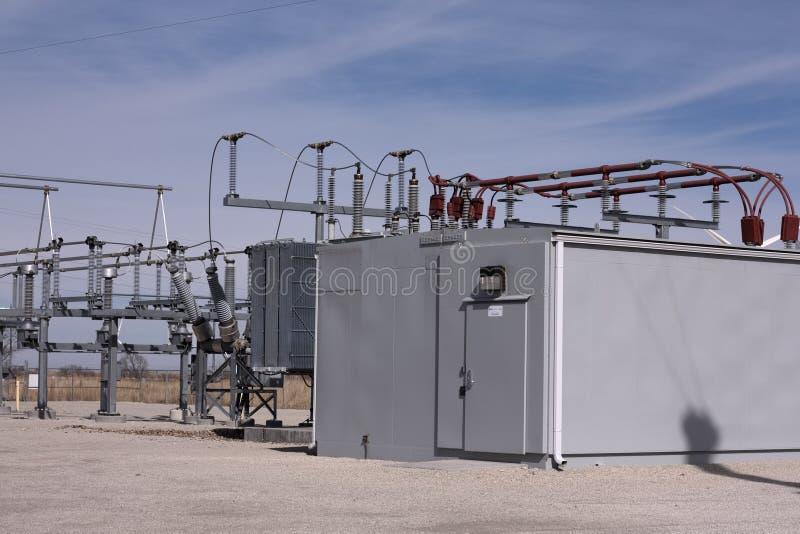 Windfarm Elektrisch Hulpkantoor royalty-vrije stock afbeeldingen