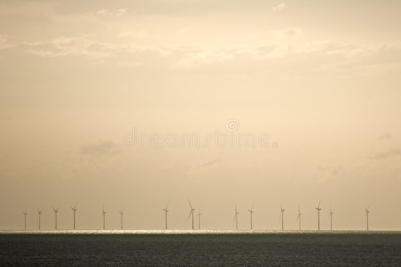 windfarm na morzu zdjęcia stock