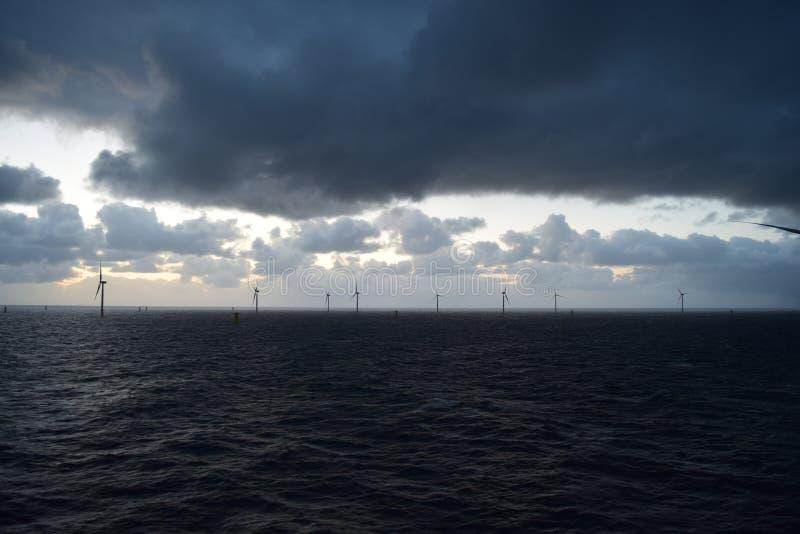 WindfarmNoordzee 2019 royalty-vrije stock fotografie