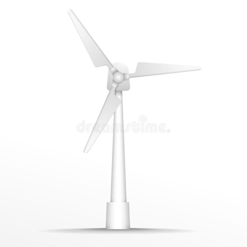Windgenerator illustration de vecteur