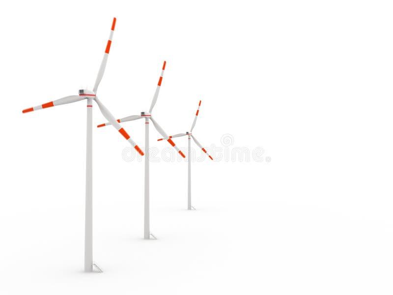 Windgenerator in 3D vektor abbildung