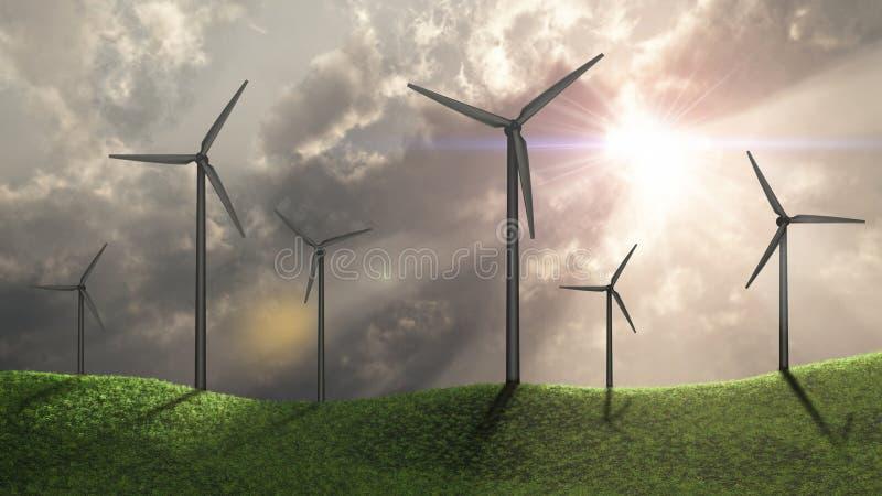 Windgeneratoren stockbild